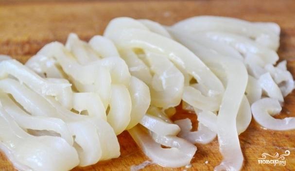кальмар тушка фото салаты