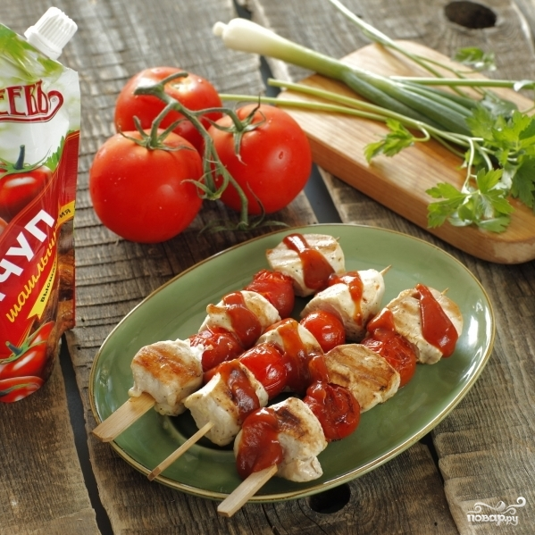 Шашлык из курицы с помидорами черри - фото шаг 3