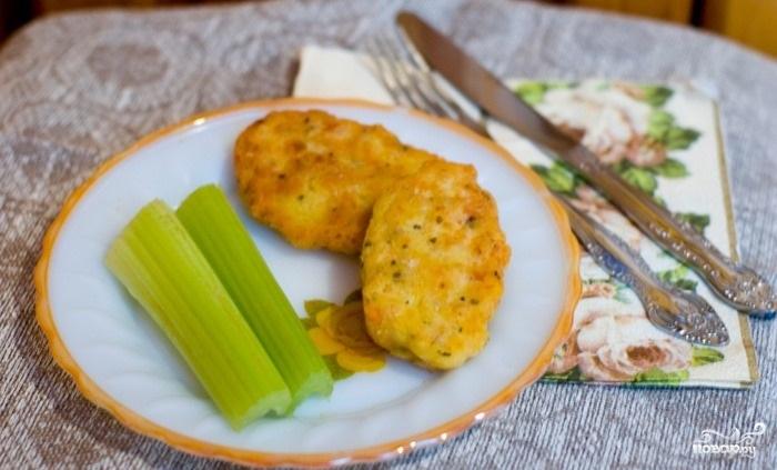 Рецепт Котлеты из кальмаров в духовке
