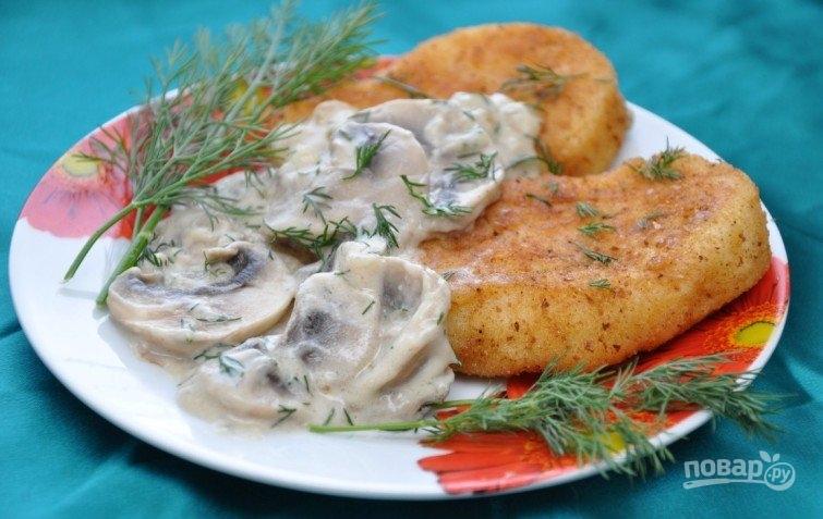 Жареная картошка с шампиньонами рецепт 121
