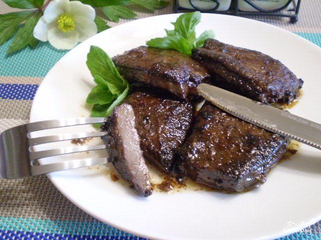 говяжья печень на сковороде рецепты приготовления с фото