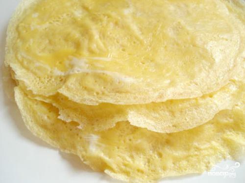 Салат из шампиньонов и яиц - фото шаг 3