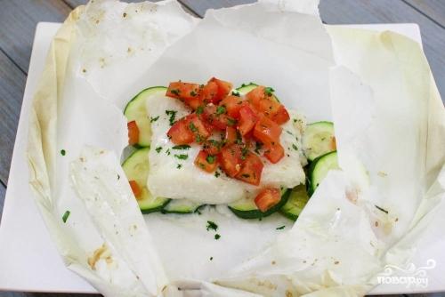Филе тилапии, запеченное с овощами  - фото шаг 5