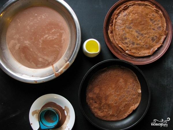 Блинный торт шоколадный - фото шаг 5