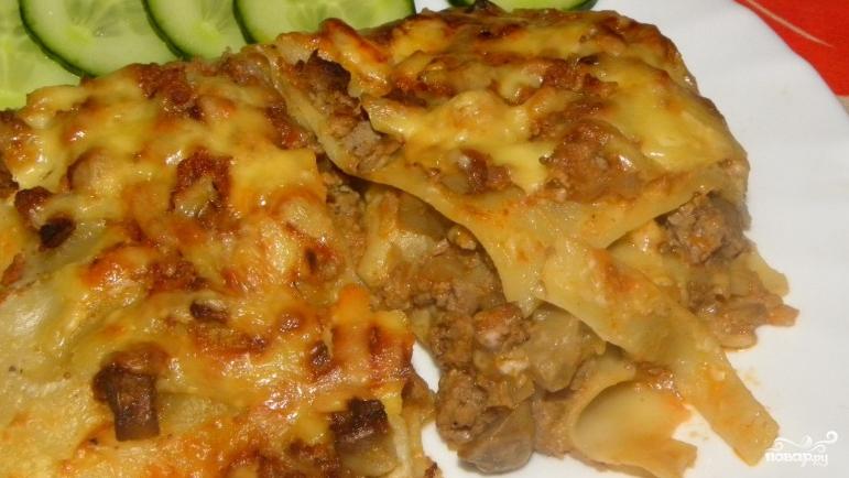 Лазанья с мясом и грибами - фото шаг 5
