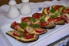Баклажаны с чесноком и помидорами