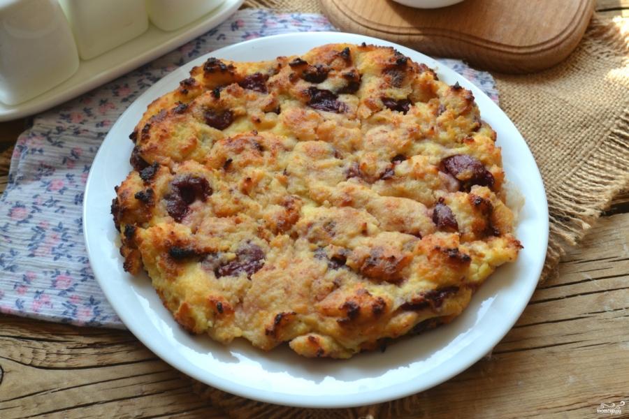Творожный пирог с вишней - фото шаг 5