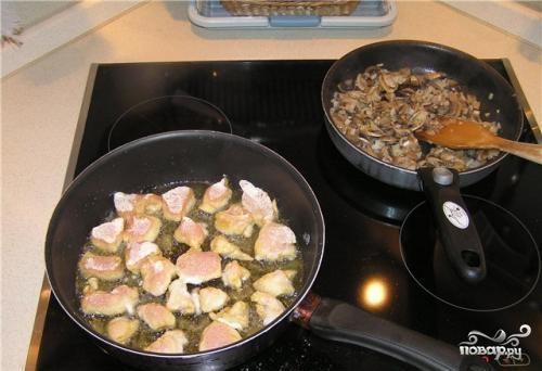 Рецепт Курица по-строгановски