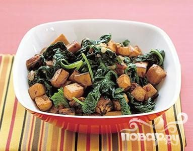 Рецепт Жареный батат со шпинатом