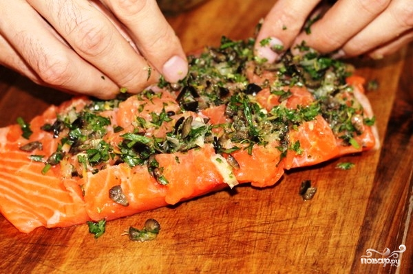 Филе лосося с оливками на пару - фото шаг 8