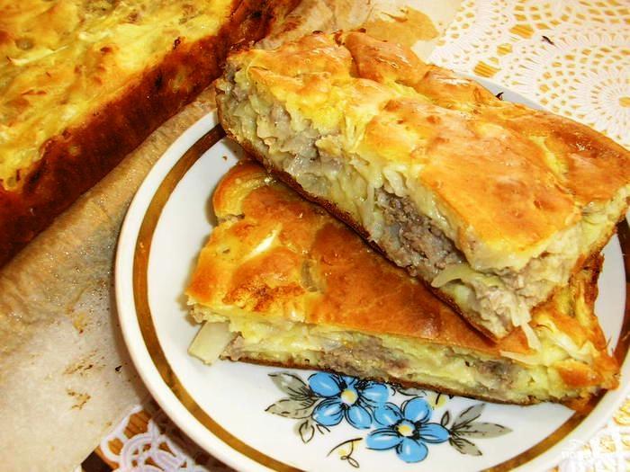 Пирог с повидлом на кефире в духовке