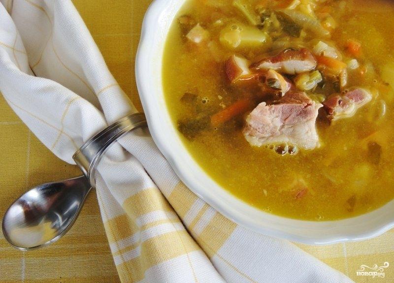 Гороховый суп с беконом - фото шаг 9