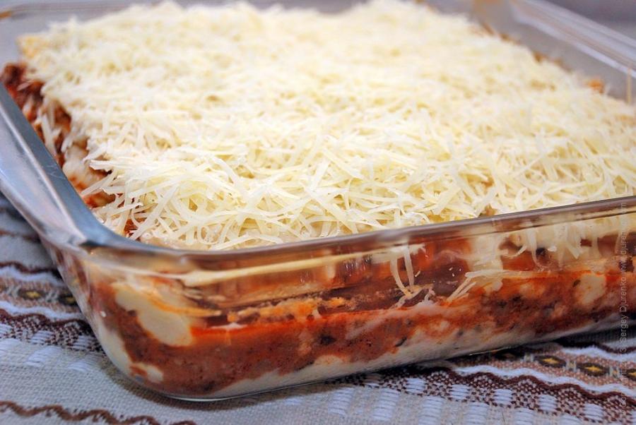 лазанья из макарон рецепт с фото пошаговый