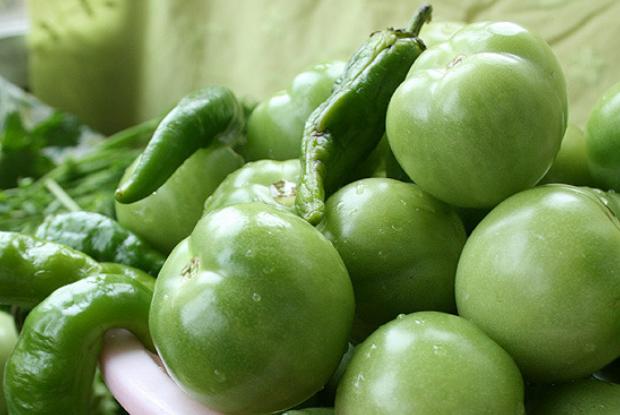Рецепт Засолка зеленых помидоров