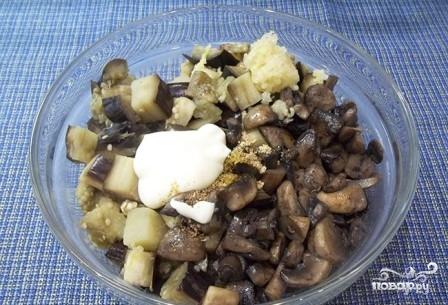 Жареные грибы с баклажанами - фото шаг 6