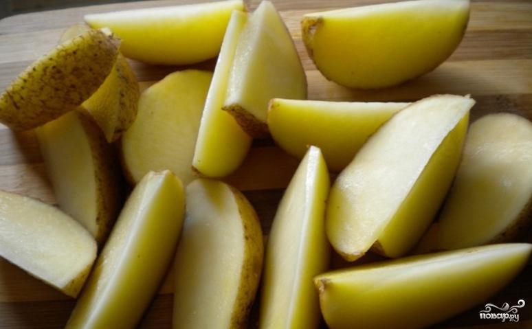 Рецепт Картошка кусочками в рукаве