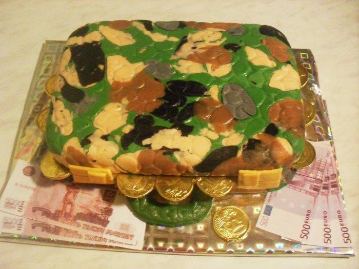"""Торт """"Кейс"""" с деньгами - фото шаг 9"""
