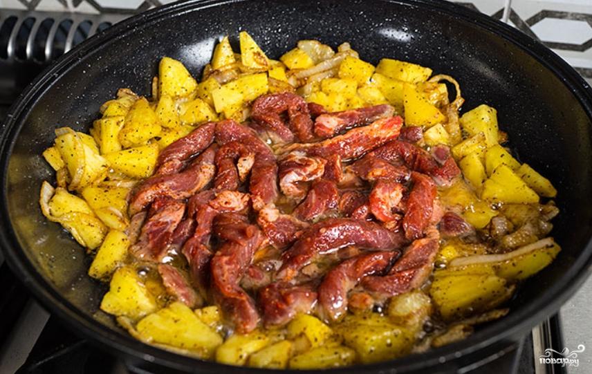 Плов в духовке со свининой - фото шаг 4