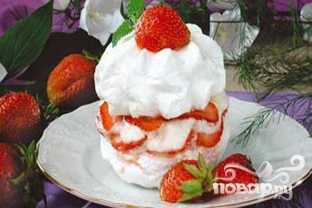 Рецепт Меренга с клубникой