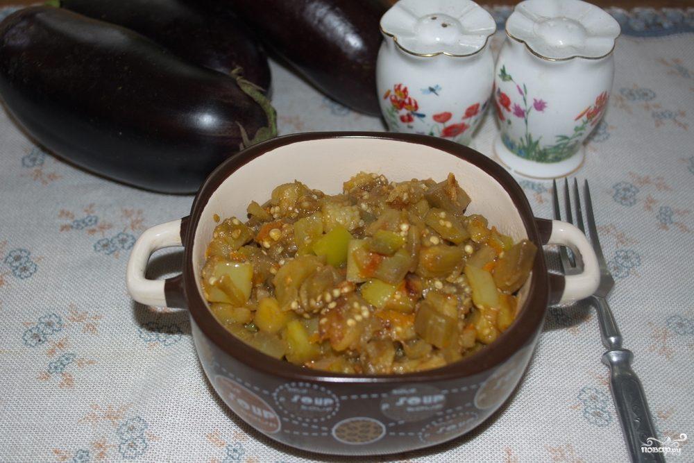 Рагу из баклажанов и помидоров