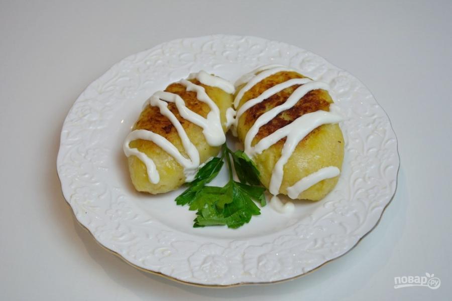 зразы с картошкой в духовке рецепт с фото
