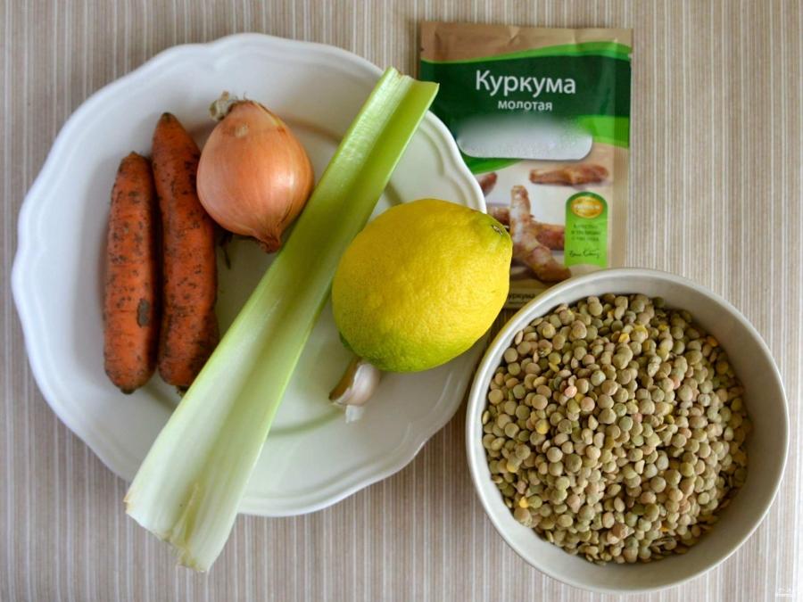 Суп из чечевицы вегетарианский - фото шаг 1
