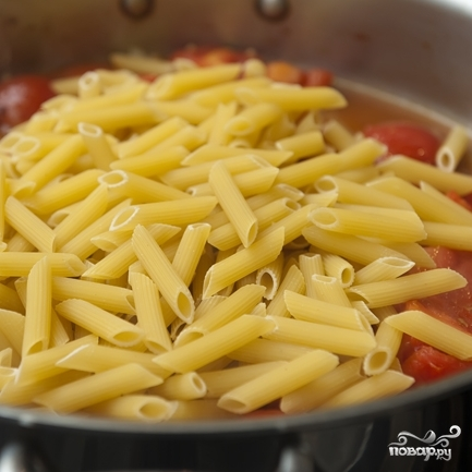 Паста с беконом и помидорами  - фото шаг 8