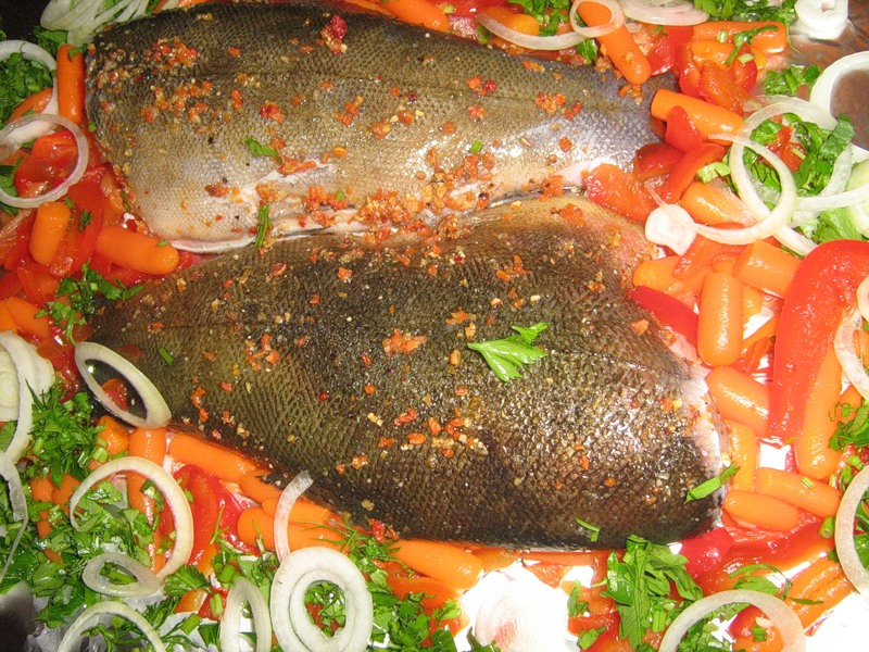 Линь с овощами - фото шаг 3