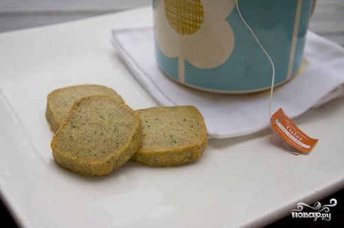 Печенье с чаем и апельсиновой цедрой