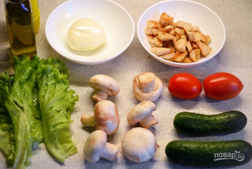 Салат из свежих шампиньонов - фото шаг 1