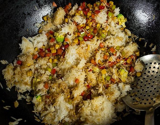 Японский рис с овощами - фото шаг 4