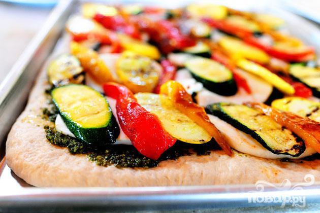Вегетарианская пицца на гриле - фото шаг 4
