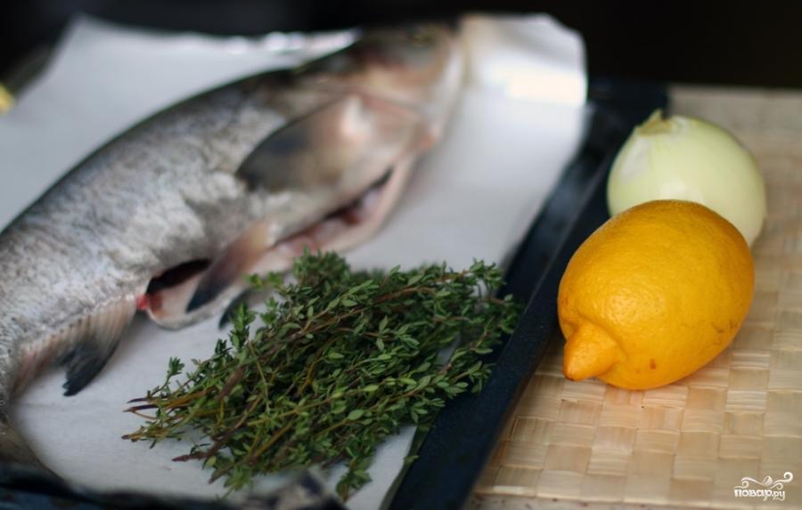 Рыба с тимьяном и луком - фото шаг 1