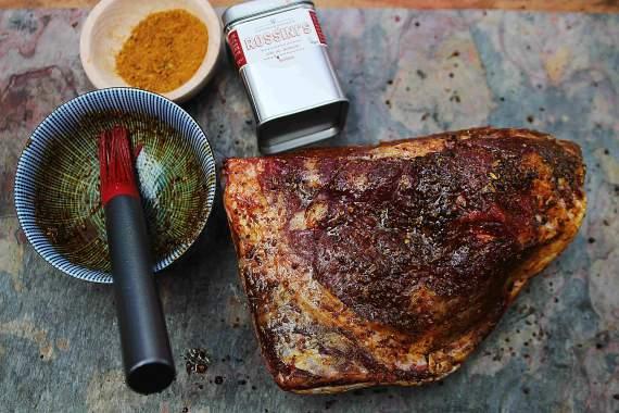 Рецепт Баранина горячего копчения