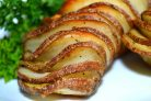 Картофель гармошкой с чесночным маслом