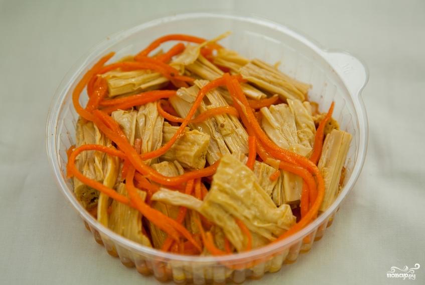 Салат из спаржи по корейски пошаговое фото