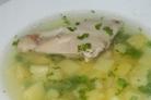 Картофельный суп на мясном бульоне
