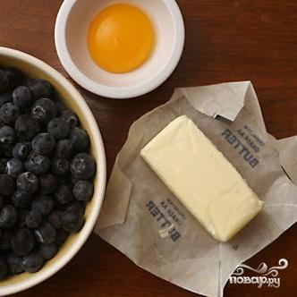 Пирог с черникой и коричневым сахаром - фото шаг 1