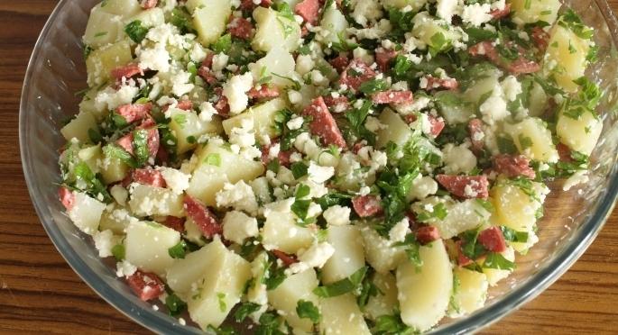 Омлет с картошкой в духовке - фото шаг 4