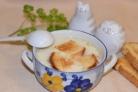 Суп с курицей и плавленым сыром