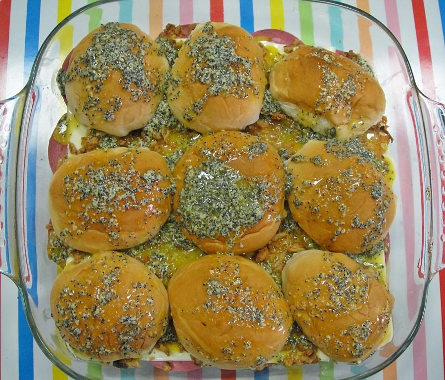 Сэндвичи в духовке - фото шаг 6