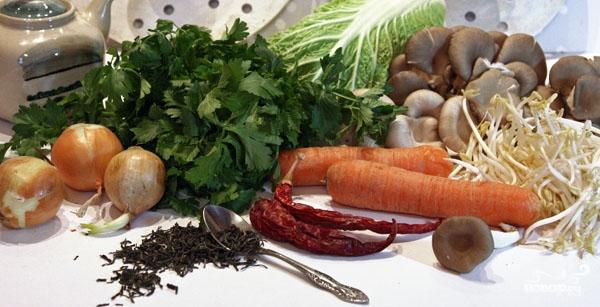 Овощной бульон в пароварке - фото шаг 1