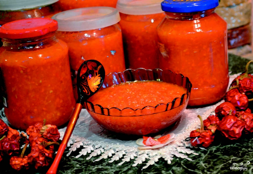 Аджика без помидоров на зиму - фото шаг 3