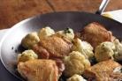 Курица с цветной капустой и петрушкой