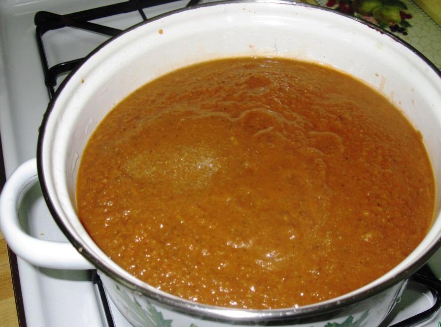 Томатный суп с грибами - фото шаг 4