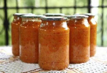 Рецепт Икра кабачковая с помидорами