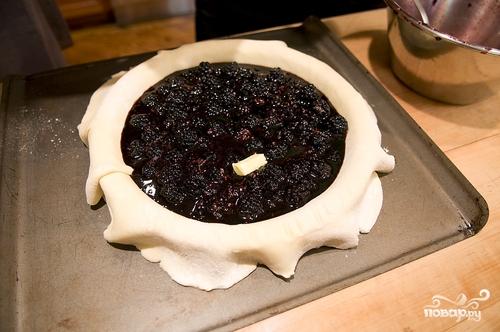 Пирог с ежевикой - фото шаг 12