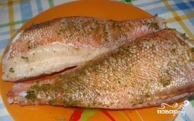Рецепт Жареный морской окунь