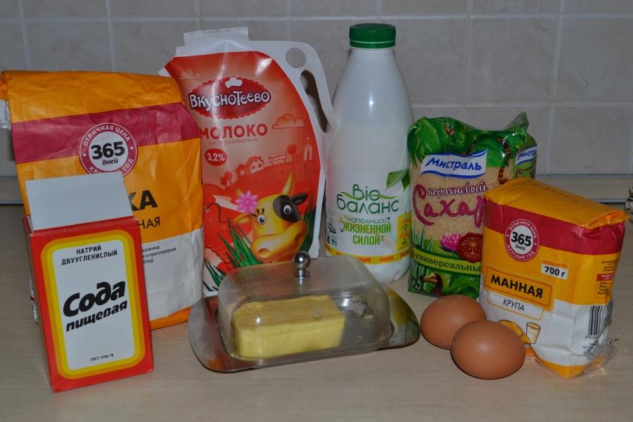 Молочный манник - фото шаг 1