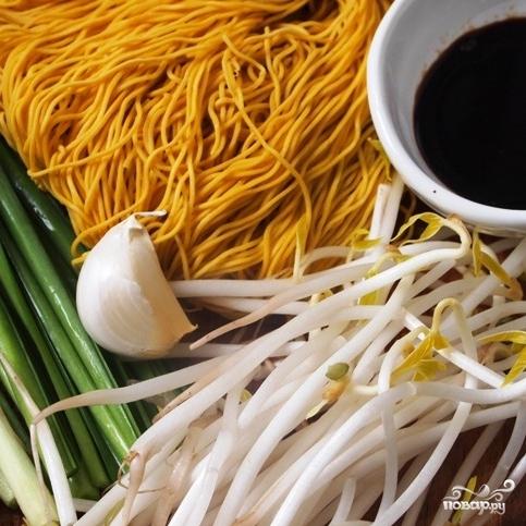 Рецепт Яичная лапша с соевым соусом